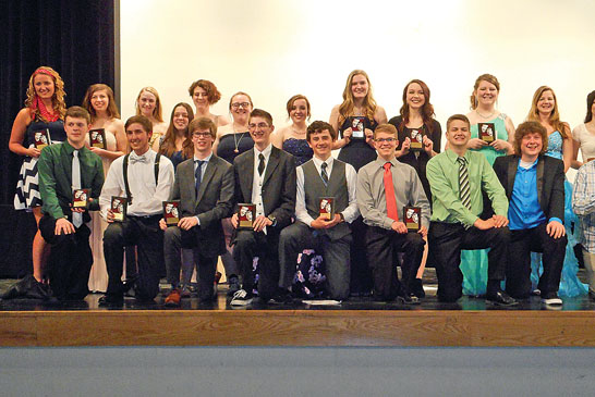 Area students display their TAB awards for their school theatrical performances featured