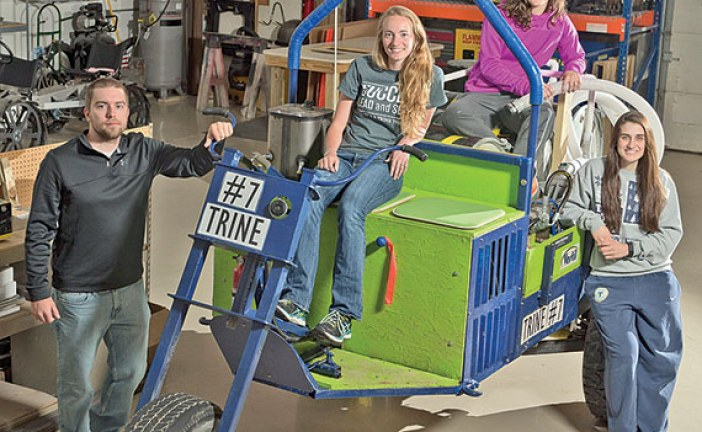 West Mansfield resident at Trine U. helped to build vehicle for contest