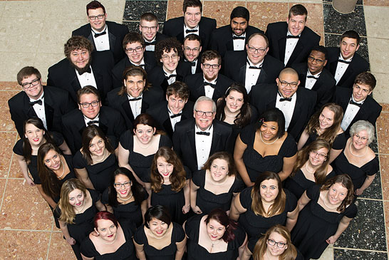 The Ohio Northern University National Tour Choir featured