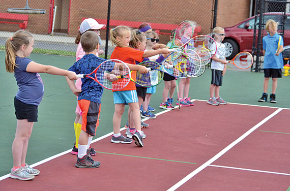 First day of tennis camp