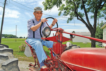 Into his 100th summer, Duke Rapp is still farming