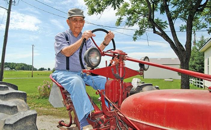 Into his 100th summer, Duke Rapp is still farming
