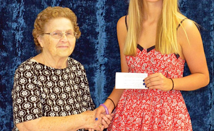 Scholarship presented