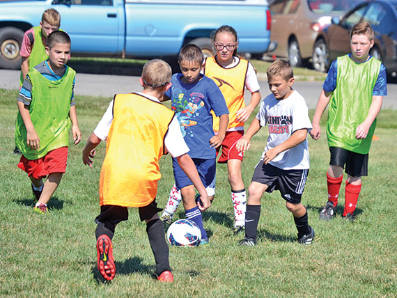 Fun at soccer camp