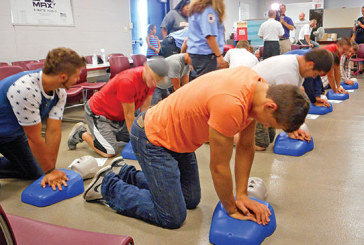 USV football players get life-saving CPR training