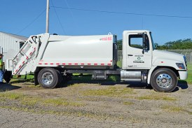 Waste District helps buy new recycling vehicle