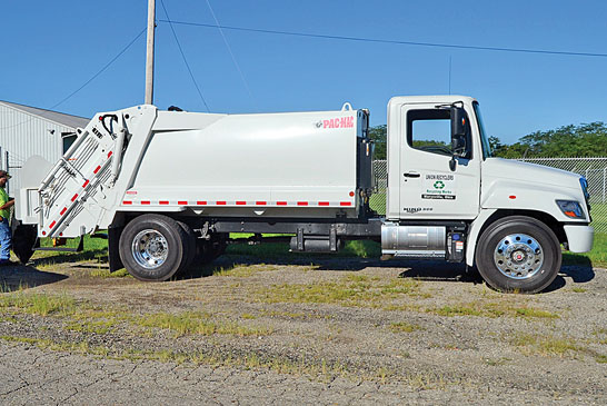 New recycling truck