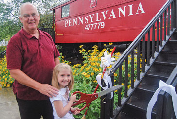 Caboose dedication and queen crowning at Ada festival