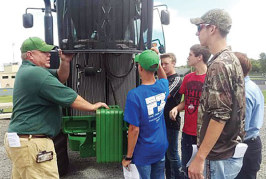 BL FFA members get tractor training