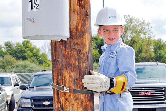 Lineman for a day at Mid-Ohio celebration