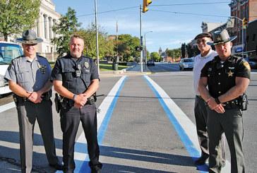 Kenton crosswalks promote 'Back the Blue' campaign
