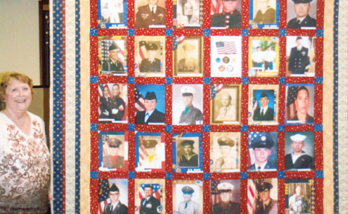 Family veterans quilt