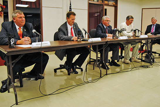 Commissioner hopefuls outline views