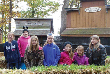Girl Scouts visit Ghost Town
