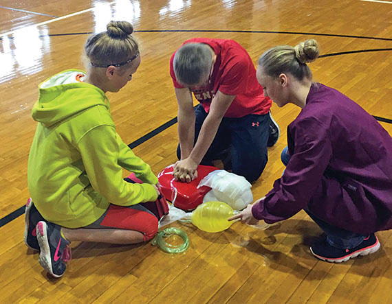 CPR, AED demonstration