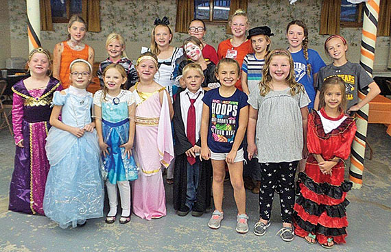 Girl Scouts and guests