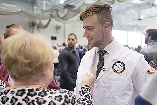 White coat recipient featured