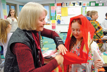 KES third-graders become 'world travelers' for a day