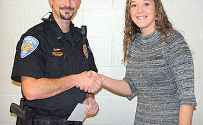 Forest teen donates funds from bake sale to 'Santa's Cops'