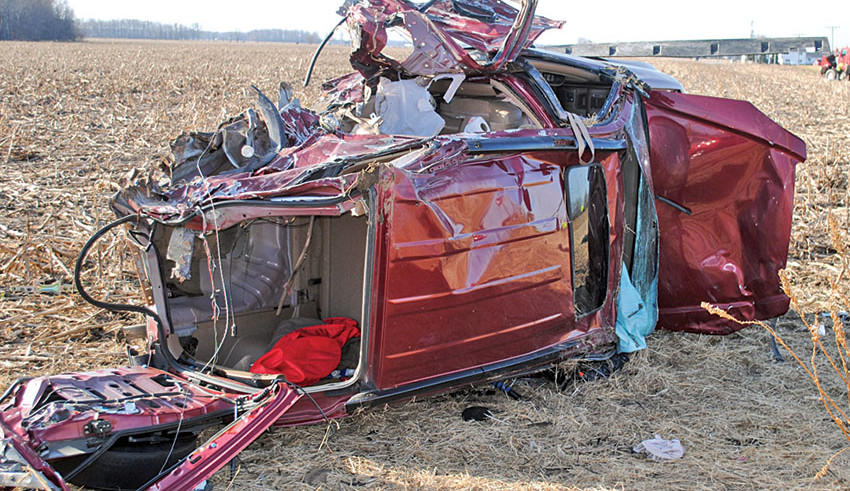 One injured in two-vehicle accident