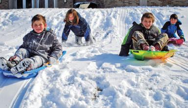 School sledding