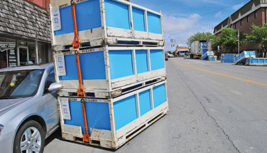 Container chaos in Kenton