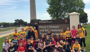 Visiting Perry's memorial