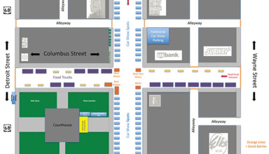 2017 Eats On Street Map