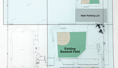 Map highlights site for HN's new softball field