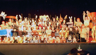 "The cast of ""The Lion King Kids"" which will be presented Friday and Saturday night in Kenton"