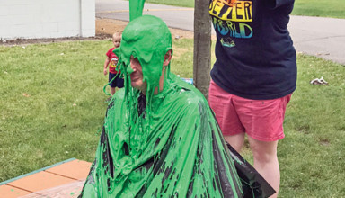 Showered in slime