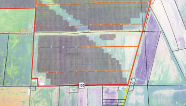 Map shows location of proposed Hardin Solar south of McGuffey