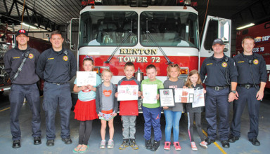 Fire safety poster winners