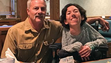 Sheena Striker with her dad, Tim Striker