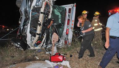 Scene of October crash that killed EMT Krista McDonald