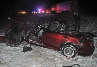 Fatal car scene