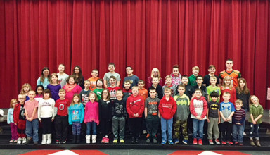 Monthly leadership award recipients at Kenton Elementary School