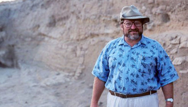 Larry Stager on archeological dig