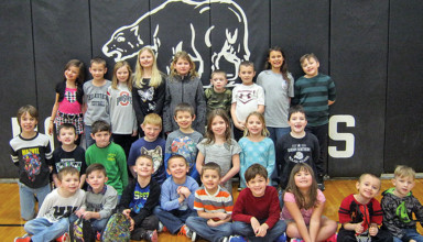 Hardin Northern January students of the month, grades K-2