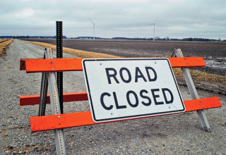 Washington Twp. Road 115 closed due to turbine construction damage