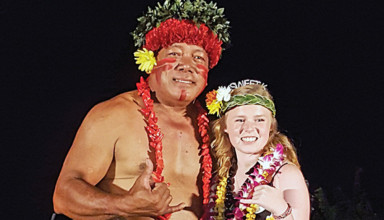 At the luau featured