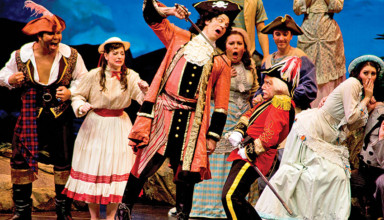 Swashbuckling buccaneers featured in The Pirates of Penzance