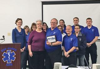 Veteran EMT honored