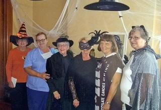 Members in costumes