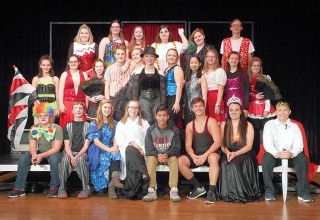 "The cast for Kenton High School's production of ""Pippin"""