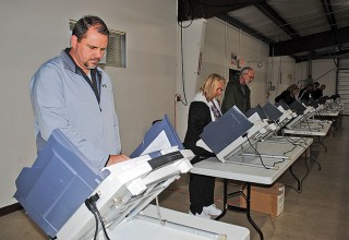 At the polls
