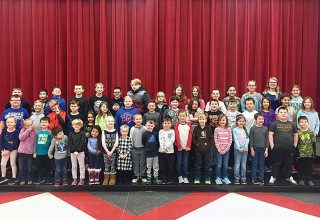 Submitted photo December Leadership Award recipients from Kenton Elementary School