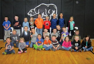 HN Elementary students of the month for grades K-2.