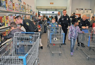 Shopping with officers