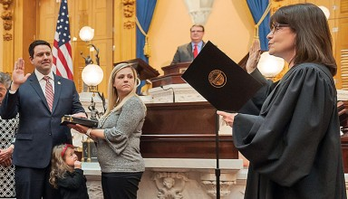 Senator takes oath